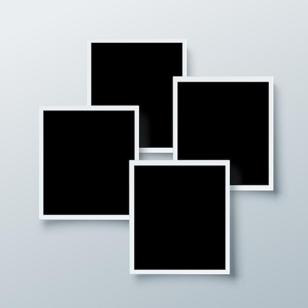 Coleção de quadros polaroid Vetor grátis