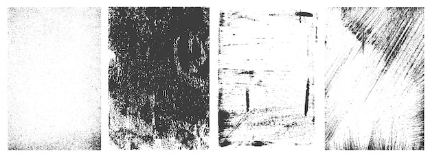 Coleção de quadros retrô grunge Vetor grátis