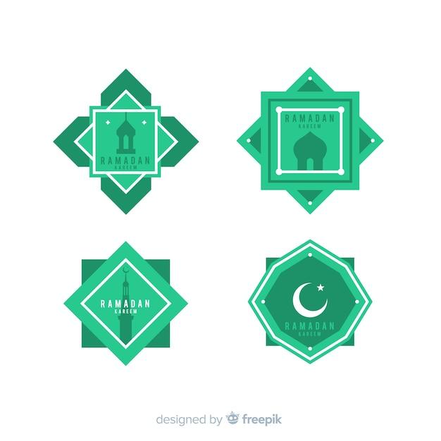 Coleção de rótulo plana ramadan Vetor grátis
