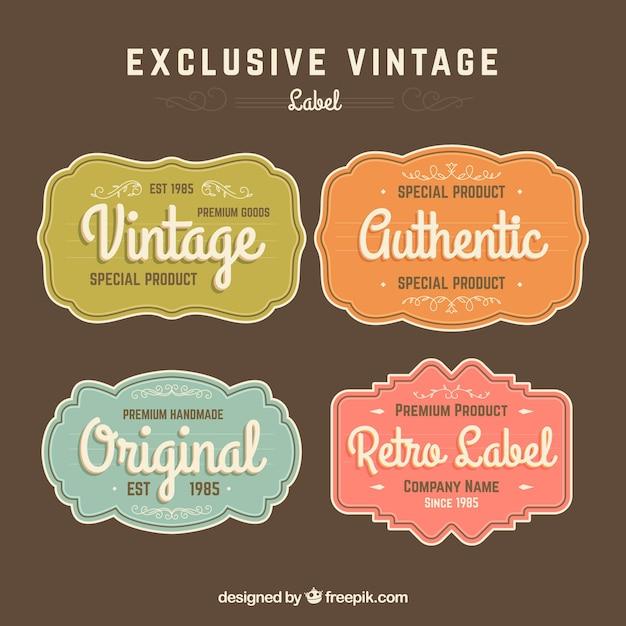 Coleção de rótulos em estilo vintage Vetor grátis