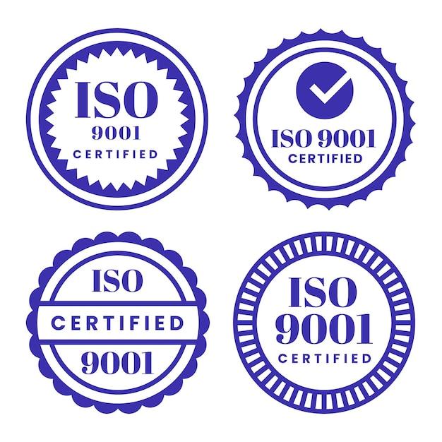 Coleção de selos de certificação iso Vetor grátis