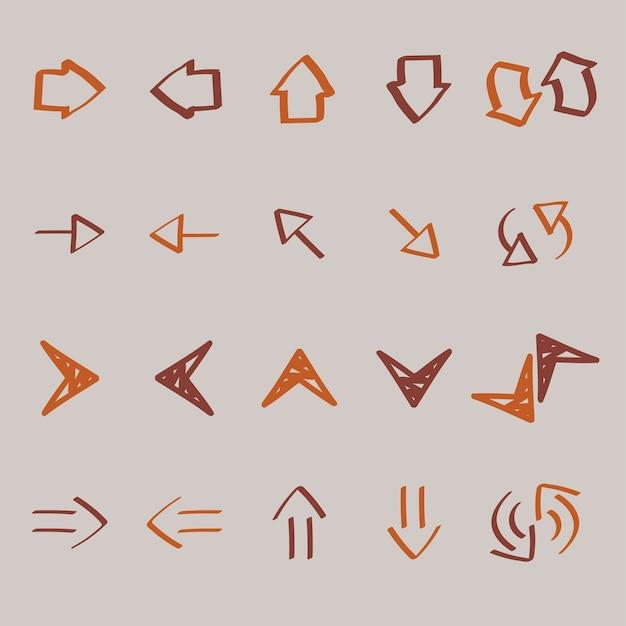Coleção de seta doodles ilustração Vetor grátis