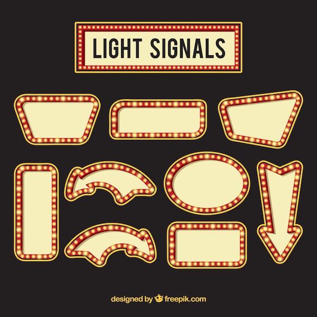 Coleção de sinais de néon Vetor grátis