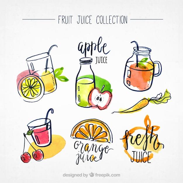 Coleção de suco de frutas Vetor grátis