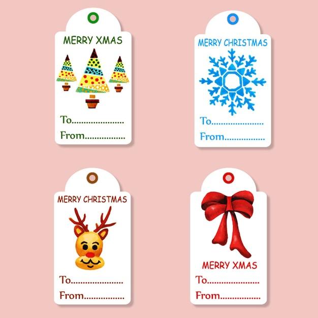 Coleção de tags de natal Vetor grátis