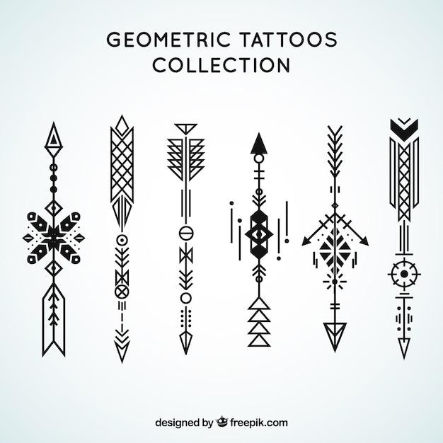 Coleção de tatuagens geométricas étnicas Vetor grátis
