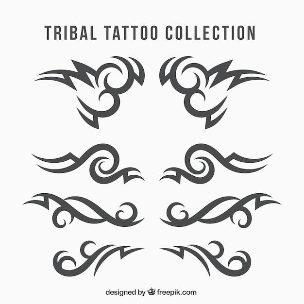 Coleção de tatuagens tribais étnicas Vetor grátis