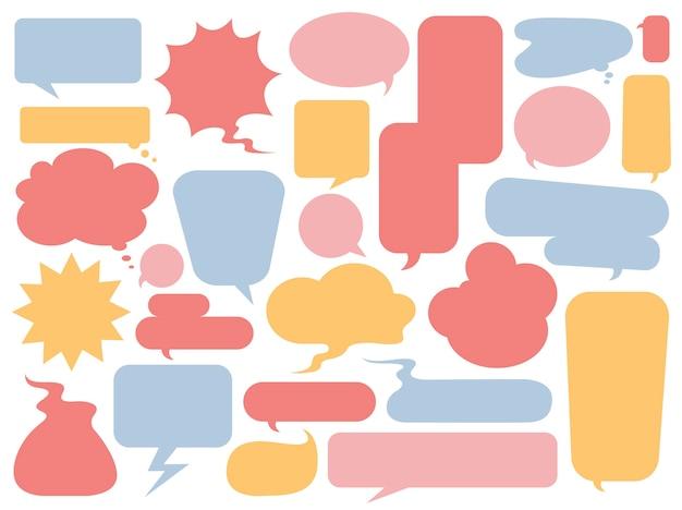 Coleção de vetores de bolhas coloridas do discurso Vetor grátis