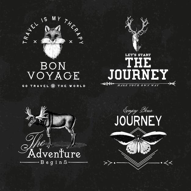 Coleção de vetores de design de logotipo de aventura Vetor grátis