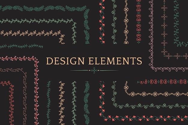 Coleção de vetores de elementos de design divisor Vetor grátis