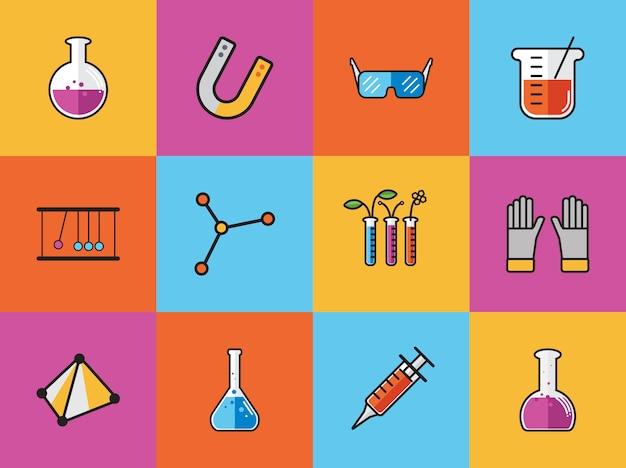 Coleção de vetores de química Vetor grátis