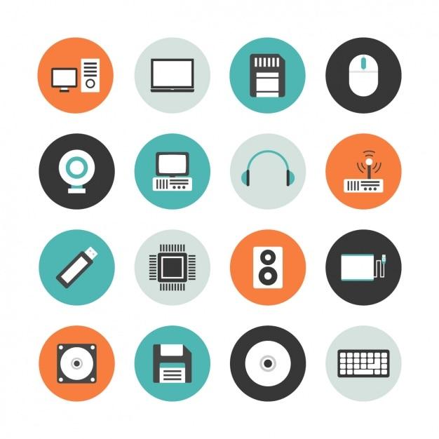 Coleção do ícone do computador Vetor grátis