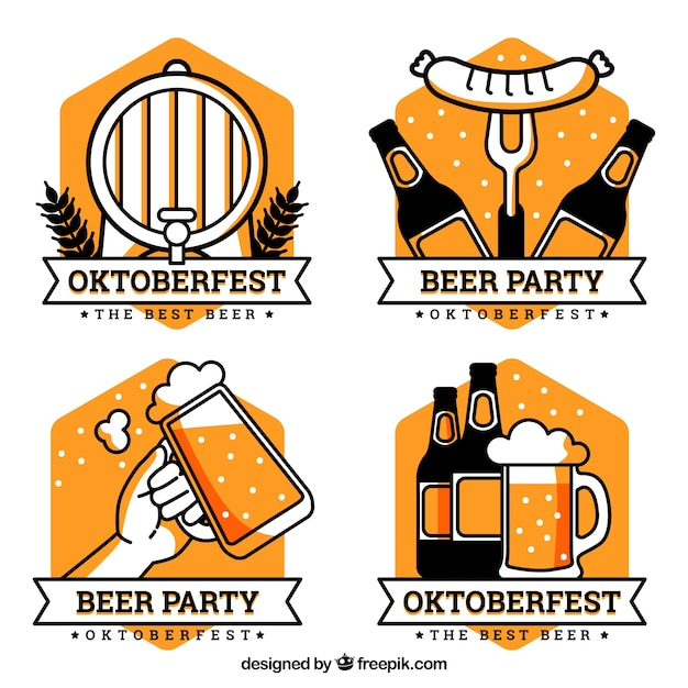 Coleção do logotipo da oktoberfest Vetor grátis