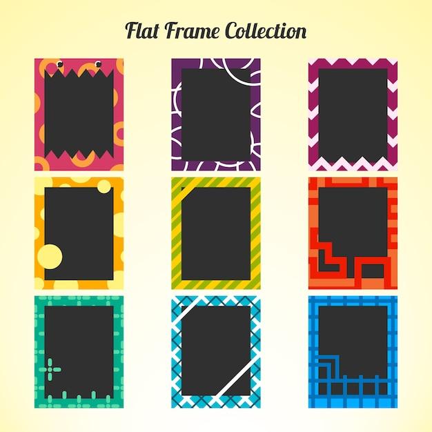 Coleção do quadro polaroid plana Vetor grátis