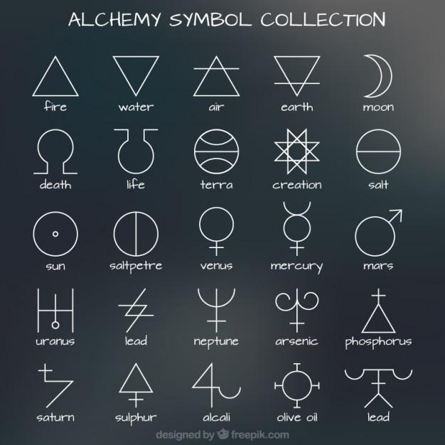 Coleção do símbolo da alquimia Vetor grátis