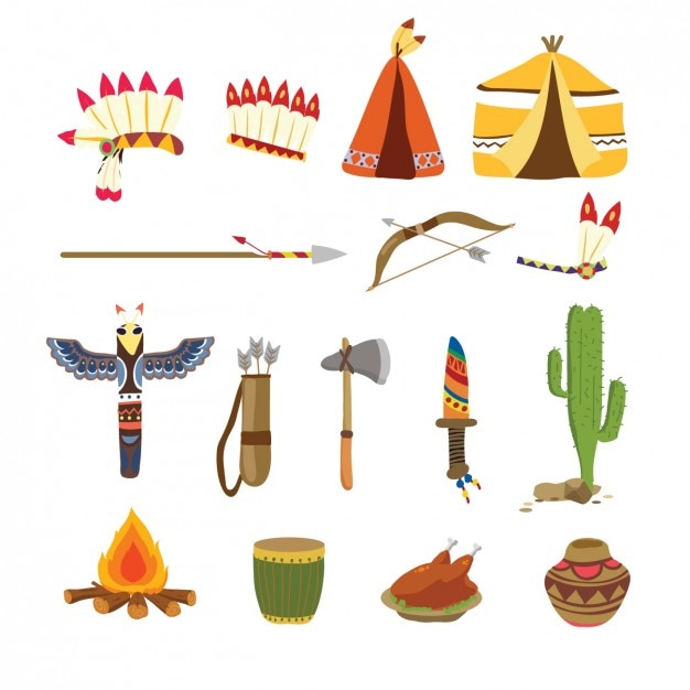 Coleção dos elementos do thanksgiving tradicional Vetor grátis