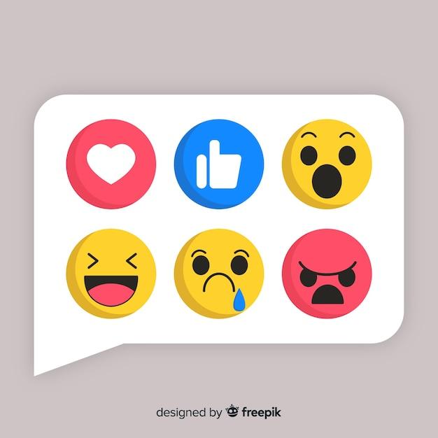 Coleção emoji Vetor grátis