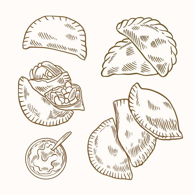 Coleção empanada Vetor grátis