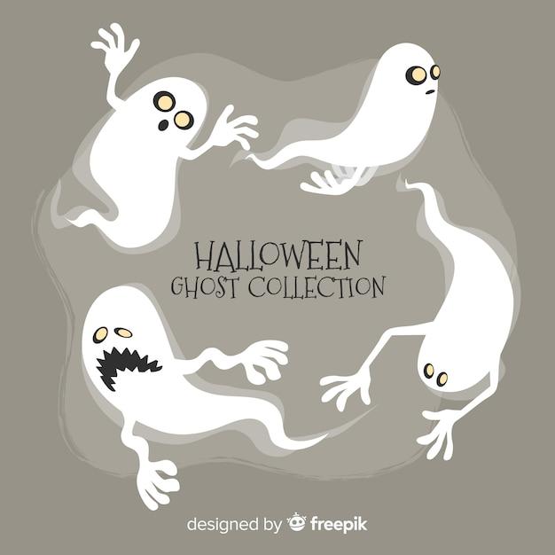 Coleção fantasma de halloween Vetor grátis