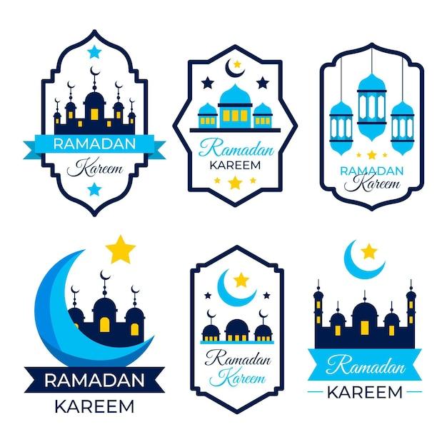 Coleção flat ramadan label Vetor grátis