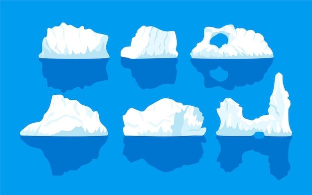 Coleção iceberg Vetor grátis