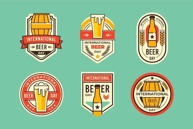 Coleção internacional de crachás de cerveja Vetor grátis