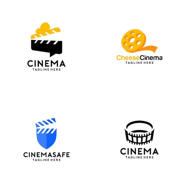 Coleção logo cinema Vetor Premium