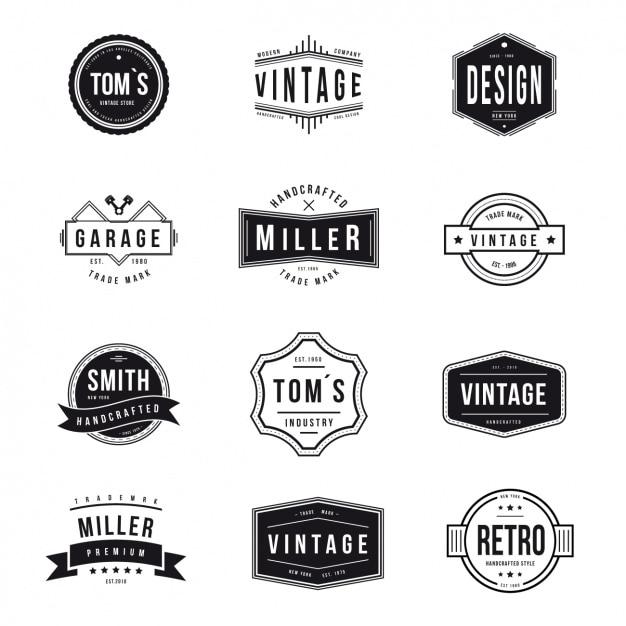 Logo Design Ideas Psd: Coleção Logos Vintage