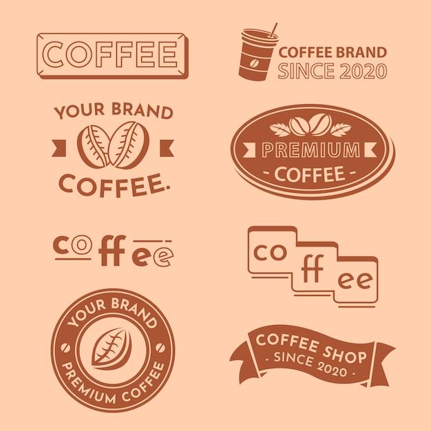 Coleção mínima de logotipo em duas cores Vetor grátis
