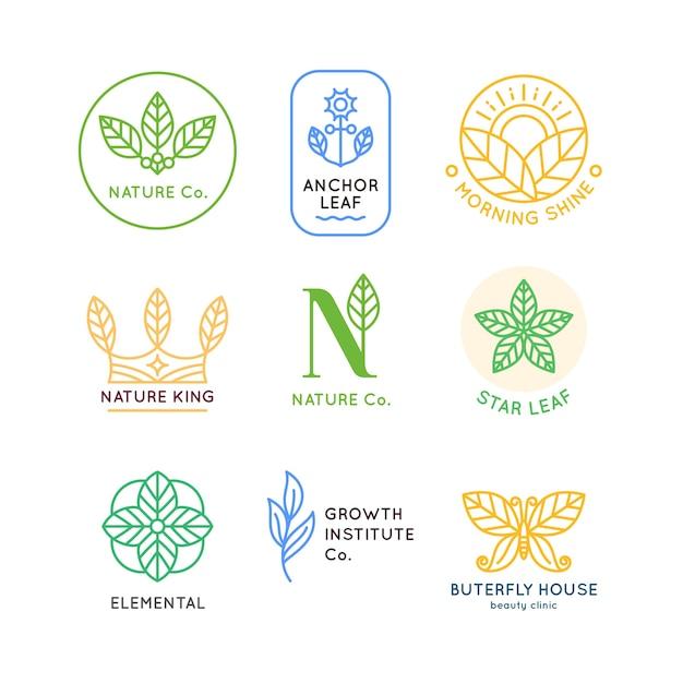 Coleção mínima de negócios naturais Vetor grátis