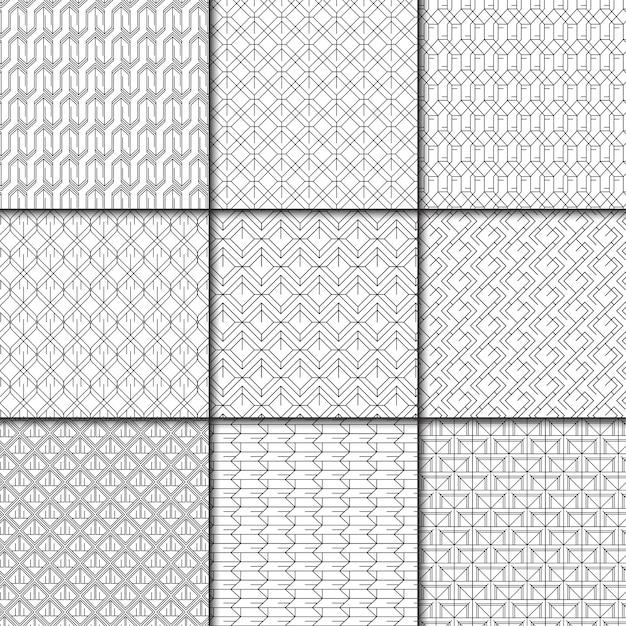Coleção mínima padrão geométrico Vetor grátis