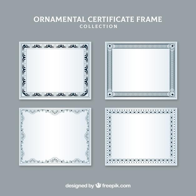 Coleção moderna de quadros de certificado Vetor grátis