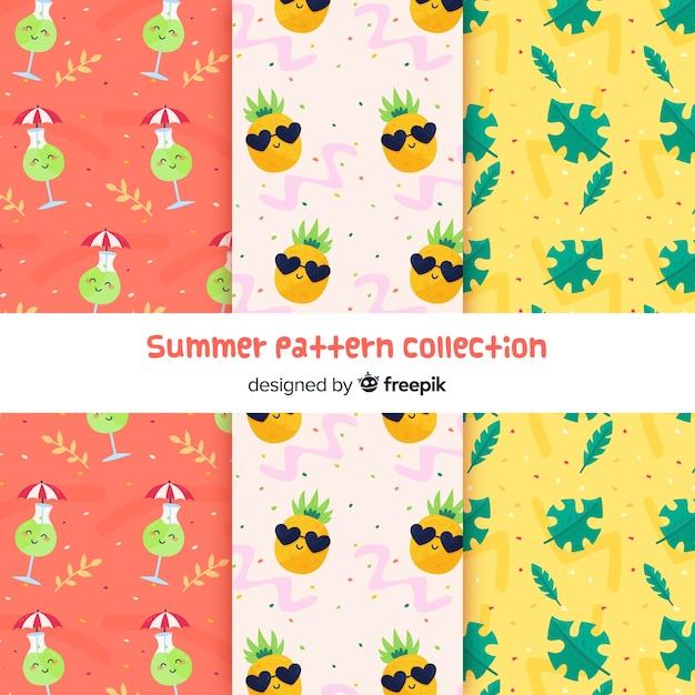 Coleção padrão de verão Vetor grátis