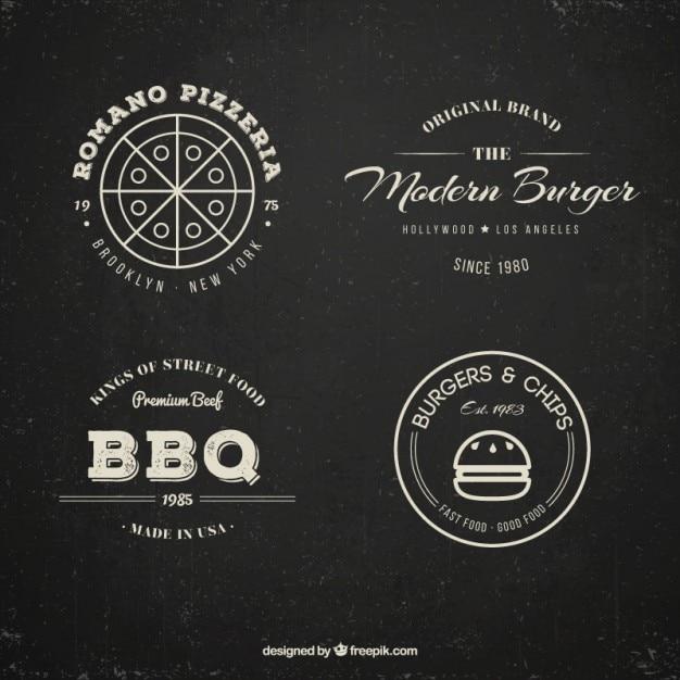 cole231227o restaurante logotipo no estilo do vintage baixar