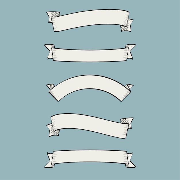 Coleção simples de fitas Vetor grátis