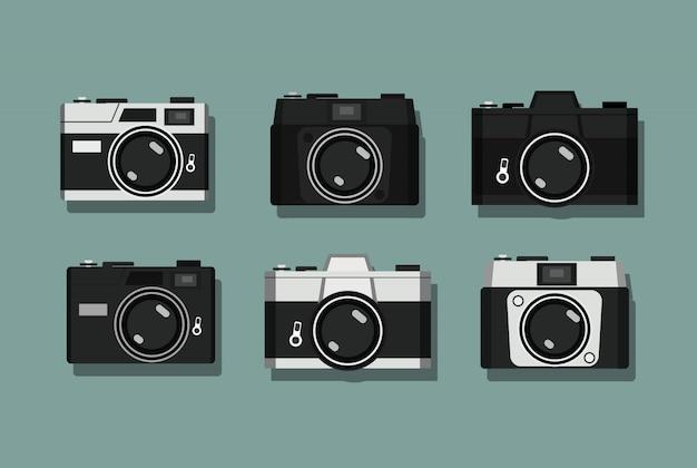 Coleção vintage camera Vetor Premium