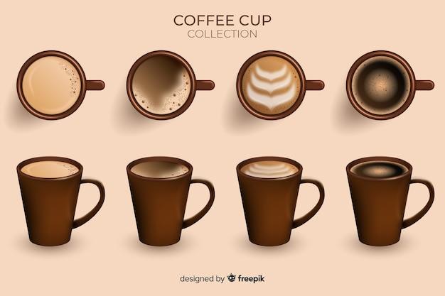 Coleção xícara de café Vetor grátis