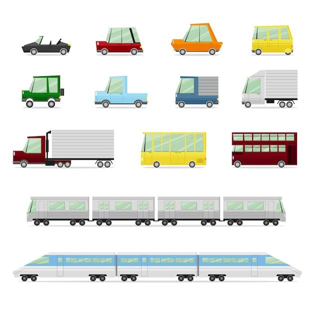 Colecção de carros Vetor Premium