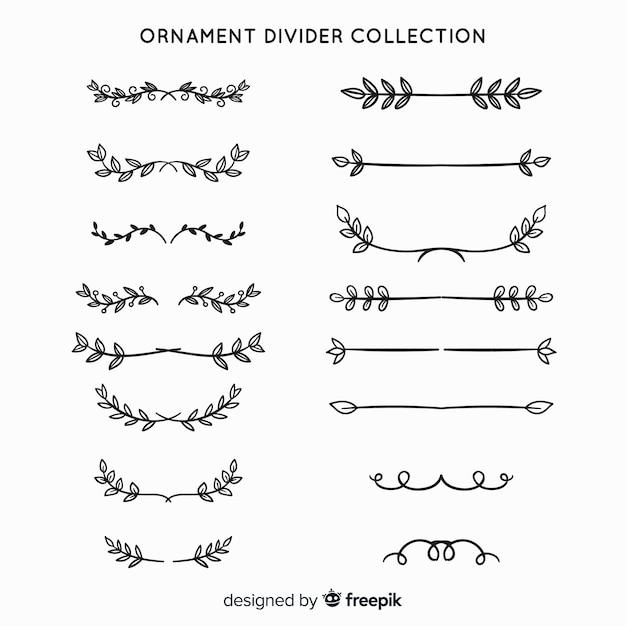 Colecção de divisórias ornamentais Vetor grátis