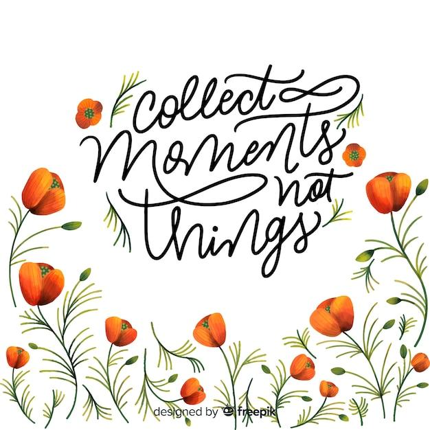 Colecione momentos não coisas Vetor grátis