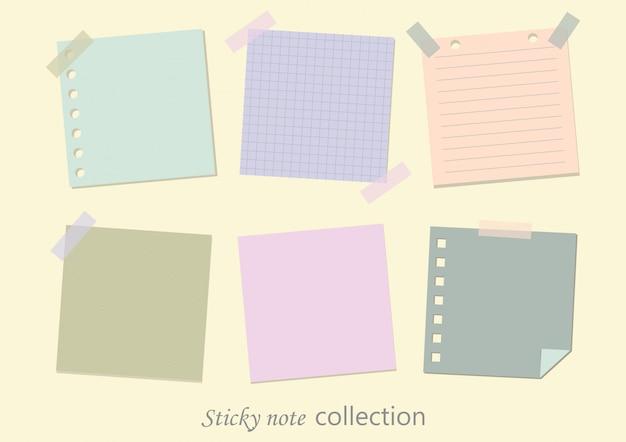 Coleções de notas em branco. Vetor Premium