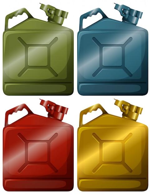 Coleta de contêineres de gasolina Vetor grátis