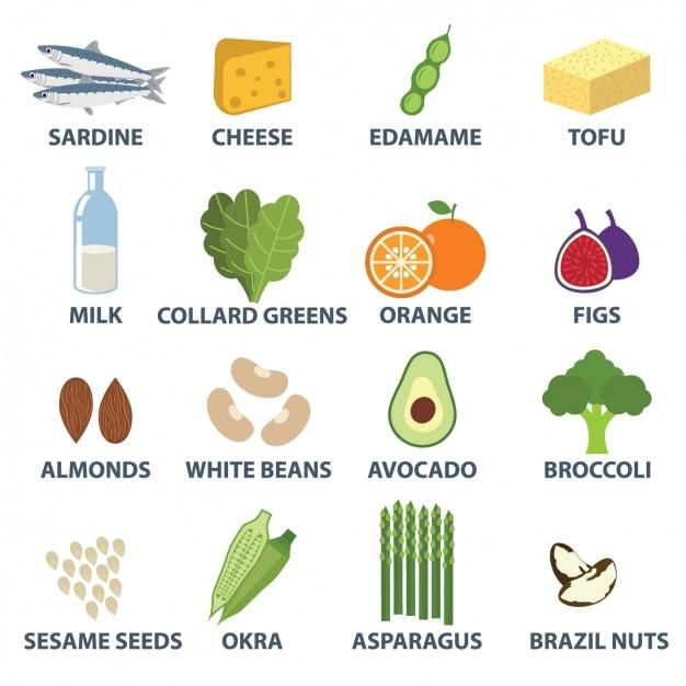 Coleta de elementos de alimentos Vetor grátis