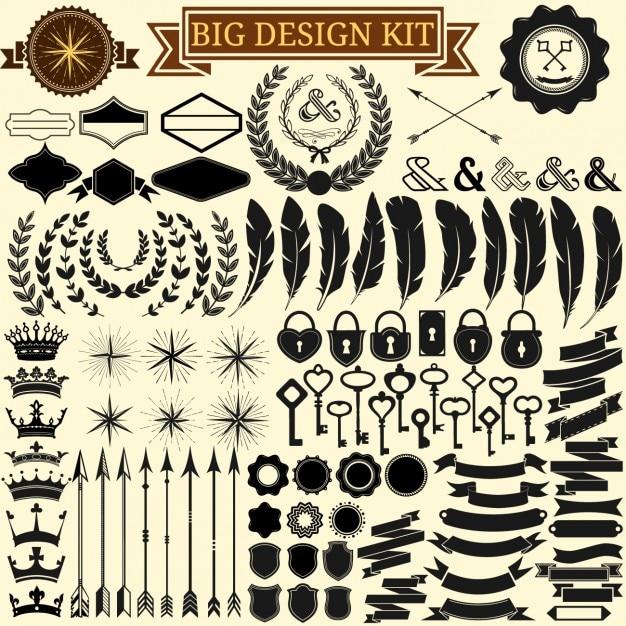 coleta de elementos de design Vetor grátis