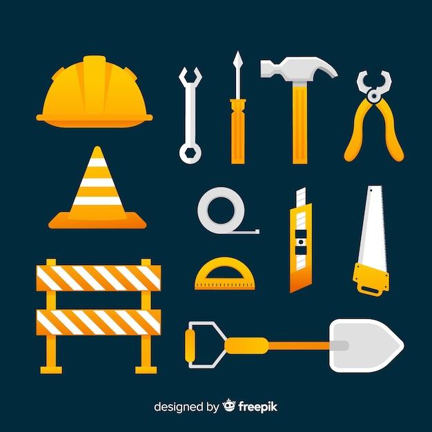Coleta de equipamentos de construção Vetor grátis