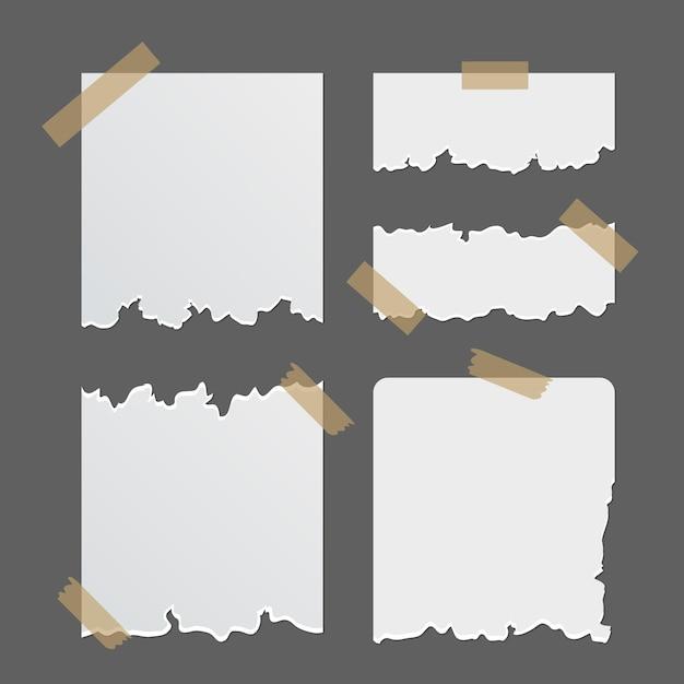 Coleta de papel rasgado com fita adesiva Vetor grátis