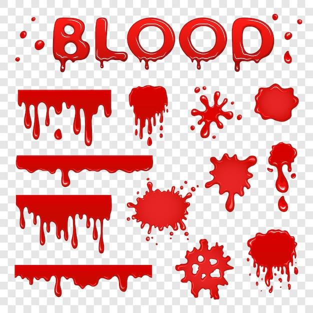 Coleta de sangue splat Vetor Premium