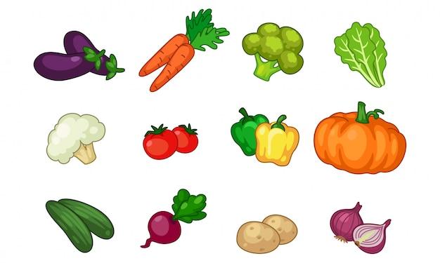 Colheita de legumes Vetor Premium