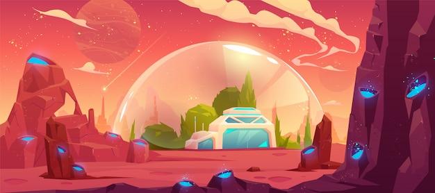 Colonização do planeta, estação espacial, bunker Vetor grátis