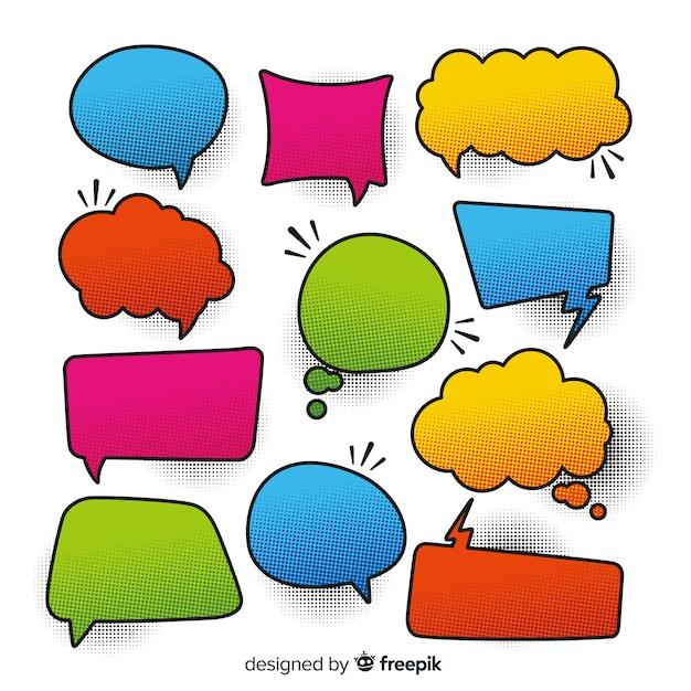 Colorfull comic speech bubbles diversidade Vetor grátis